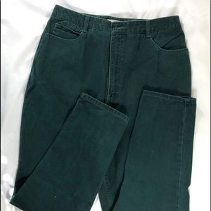 Women's Talbots green pants. Sz 14 tall.